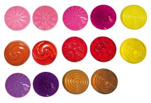 Set zeepkleuren transparant, 12 stuks