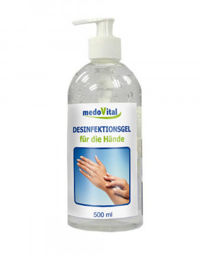Desinfectiegel voor de handen, 500ml