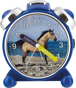 Kwarts kinderwekker, Paard, blauwe kast