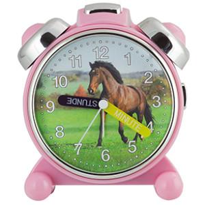 Kwarts kinderwekker, Paard, roze kast