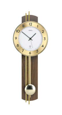 AMS radio controlled wall clock with pendulum