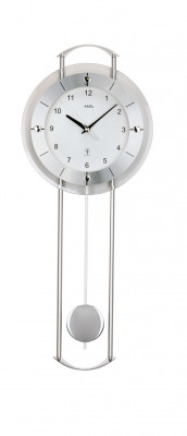 AMS radio controlled wall clock with pendulum Steyr II