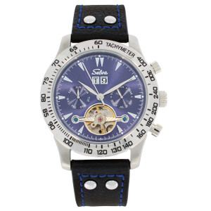 SELVA Men's Watch »Hector« - Tachymeter - blue dial