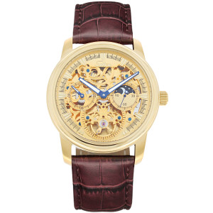 SELVA Men's Watch »Ramon« -sun/moon - skeletonized - gilded
