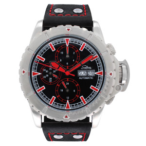 SELVA Men's Watch »Vasco« - black-red