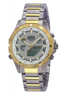 Eco Tech Time Solar Drive Funk Alaska Herrenuhr World Timer