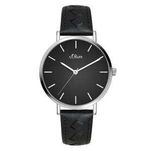s.Oliver SO-3842-LQ leder zwart 16mm