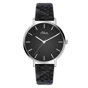 s.Oliver SO-3848-LQ Leder zwart 16mm