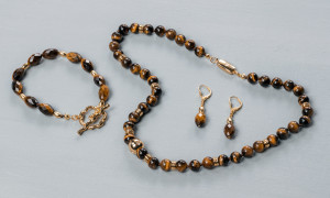 Handcraft jewellery set Tiger Eye