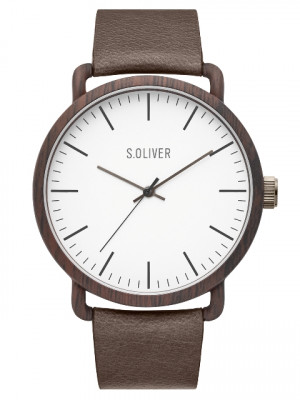 s.Oliver SO-3751-LQ Leder bruin 20mm
