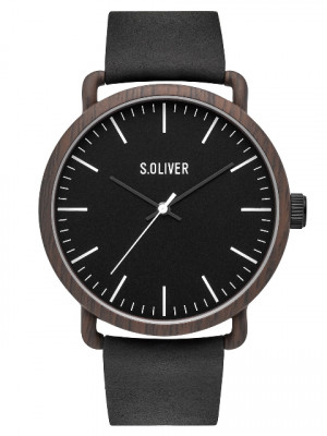 s.Oliver SO-3752-LQ Leder zwart 20mm