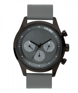 s.Oliver SO-3723-LM Leder grijs 22mm