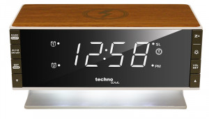 TECHNOLINE Radio alarm clock with Qi charging surface
