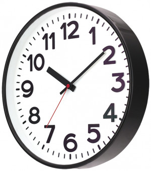 SELVA Quartz wall clock Kolbingen, black
