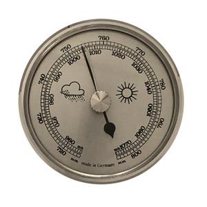 Barometer inbouw weerinstrument Ø 85 mm, zilverkleurig