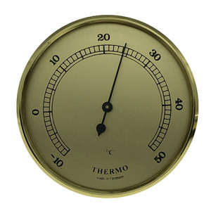 Thermometer build-in weather instrument Ø 85mm, gold