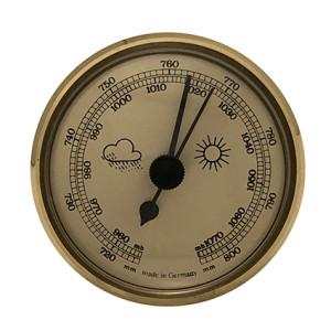 Barometer inbouw weerinstrument Ø 65 mm, goudkleurig