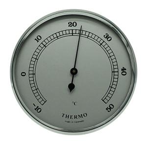 Thermometer inbouw weerinstrument Ø 85 mm, gzilverkleurig