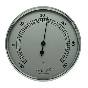Thermometer inbouw weerinstrument Ø 65 mm, zilverkleurig