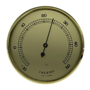 Thermomètre instrument météo pour monter Ø 65mm, doré