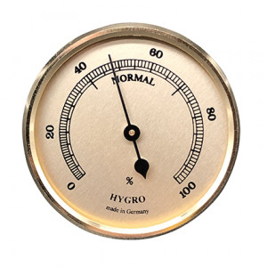 Hygrometer inbouw weerinstrument Ø 65 mm, goudkleurig