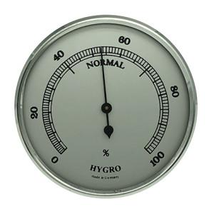 Hygrometer inbouw weerinstrument Ø 65 mm, zilverkleurig