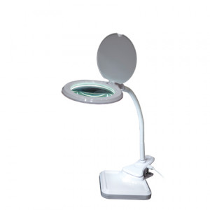 LED magnifying lamp with USB connection