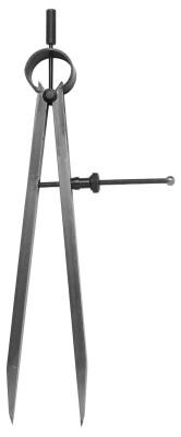 Veerpuntcirkel 100 mm punten  uitwisselbaar