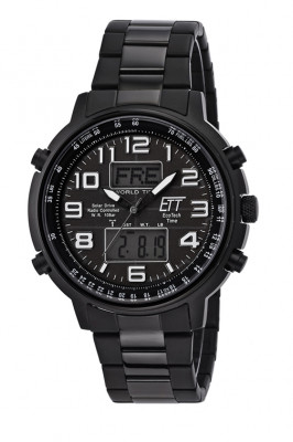 Eco Tech Time Solar Drive Funk Hunter II Herrenuhr