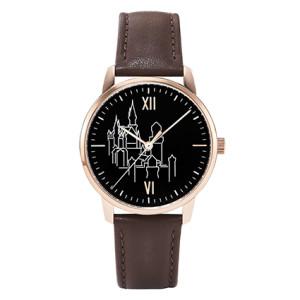 LACO Königsschloss Edition Armbanduhr, rosé/ schwarz - Exklusiv