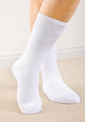 Warmte bewarende sokken, gr. 38-42, wit, inhoud 2 paar