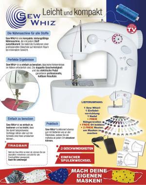 Sew Whiz® naaimachine inclusief stroomadapter