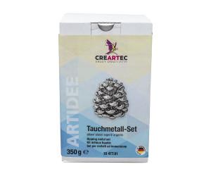 Dompelbad metaal complete set, kleur zilver