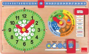 GOULA Klok om de tijd en kalender te leren