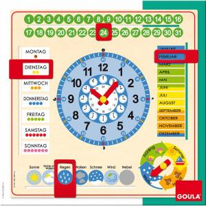 GOULA Klok om de tijd, de calender en de week te leren