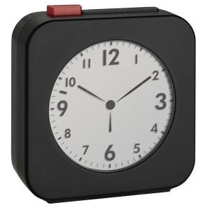 TFA Wekker tijdsein gestuurd LCD, zwart