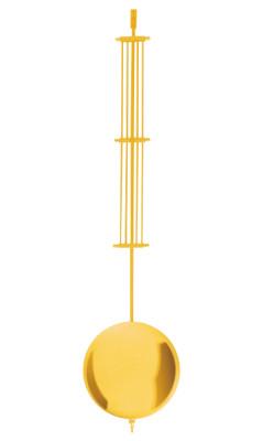 Mechaniek roestpendel messing geel gepolijst L:600 mm Ø:140 mm