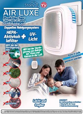 Luchtreiniger met HEPA actief koolfilter en UV licht