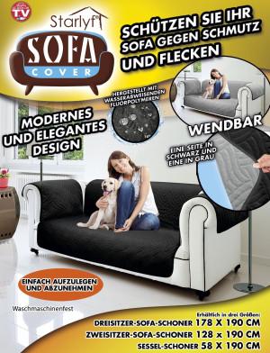 Sofa Cover - Bescherming tegen vuil en vlekken – Zwart, voor 1-zits bank/stoel