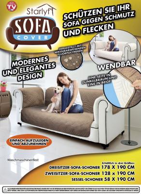 Sofa Cover - Bescherming tegen vuil en vlekken – Bruin, voor 2-zits bank