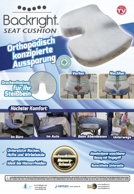 Originele Backright Seat Cushion - orthopedisch zitkussen