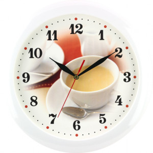 Quartz wall clock coffee