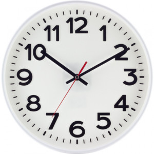 SELVA radio-controlled wall clock Kolbingen, white