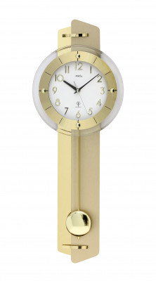 AMS radio pendulum wall clock brass
