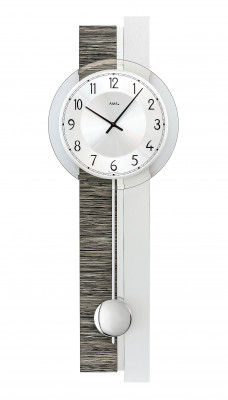 AMS quartz pendulum wall clock wood decor / aluminum