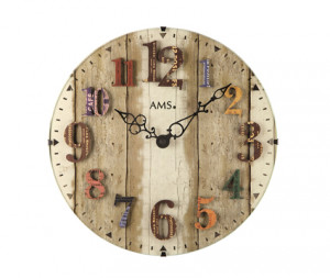 AMS Kwarts wandklok vintage