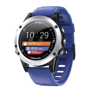 Fitness Tracker met blauwe siliconen band