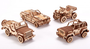 WOOD TRICK car set, 338 components