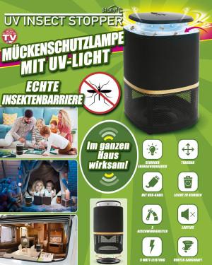 Muggen werende lamp met UV-licht