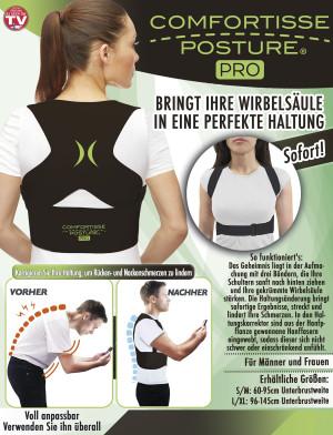 Comfortisse Posture PRO - Brengt je wervelkolom in een perfecte houding (maat S / M)